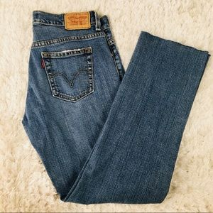 """Levi's 505 Vintage Cropped Jeans Red Tab 6 M 30"""""""